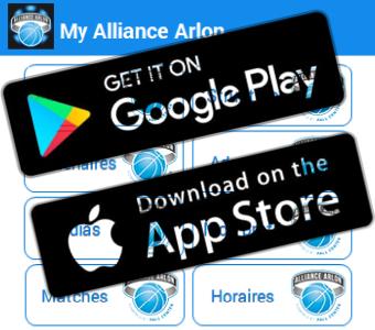 Votre App pour notre grand club arlonais (Alliance & Junior)